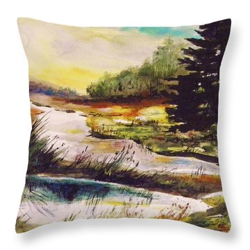 Just After Daybreak Throw Pillow