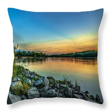 Just After Sun Went Down Throw Pillow