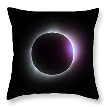 Just After Totality - Solar Eclipse August 21, 2017 Throw Pillow