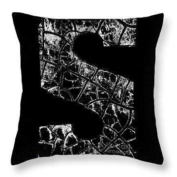 Throw Pillow featuring the photograph Just An S by Wendy Wilton