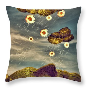 Just Another Summer Rainy Day Throw Pillow