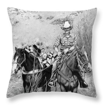 Just Another Western Workday Throw Pillow
