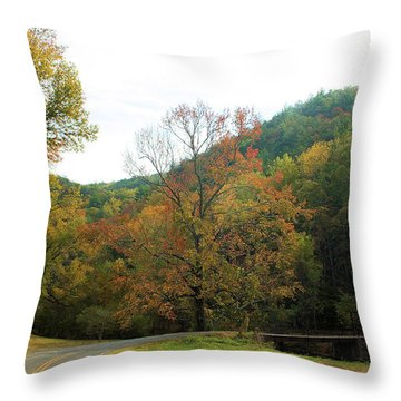 Just Around The Bend... Throw Pillow