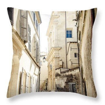 Throw Pillow featuring the photograph Just Around The Curve... by Jason Smith