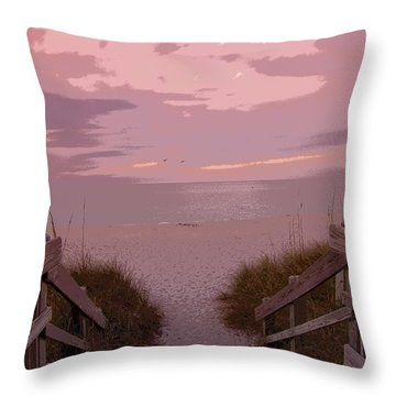Just Beachy Throw Pillow