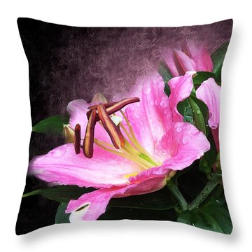 Throw Pillow featuring the mixed media Just Beautiful  by Gabriella Weninger - David