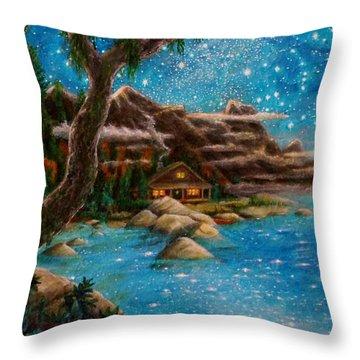 Throw Pillow featuring the painting Just Before Dawn by Matt Konar