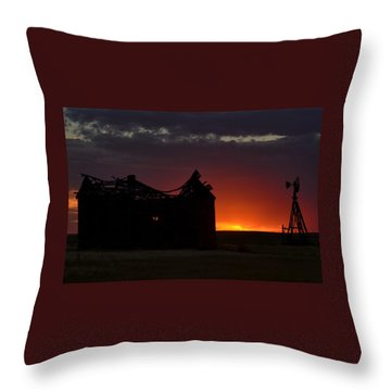 Just Before Sunrise Throw Pillow by Clarice  Lakota