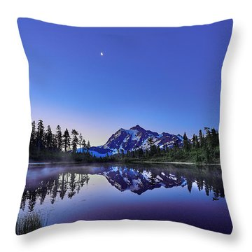 Throw Pillow featuring the photograph Just Before The Day by Jon Glaser