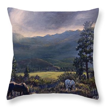 Just Before The Rain Throw Pillow
