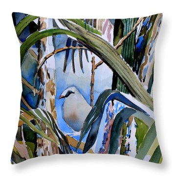 Just Being Throw Pillow by Mindy Newman