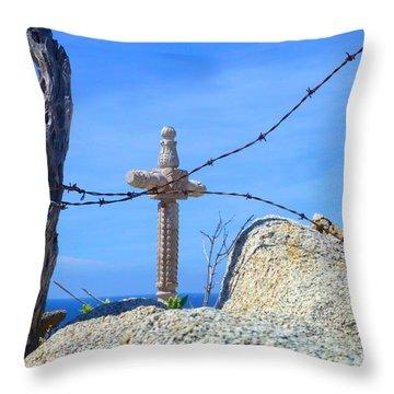 Just Beyond Throw Pillow by Barbie Corbett-Newmin