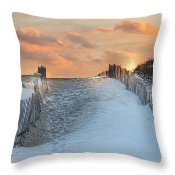 Throw Pillow featuring the photograph Just Beyond by Robin-lee Vieira