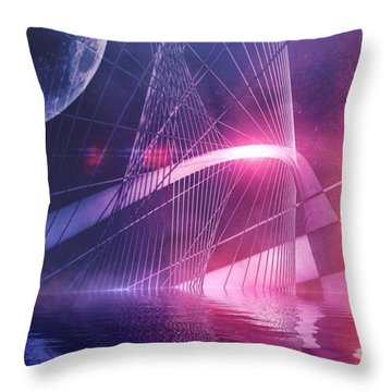 Just Beyond The Surface Throw Pillow by Bob Hedlund
