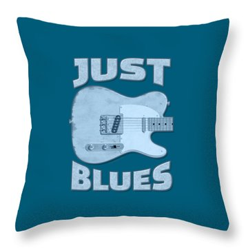 Just Blues Shirt Throw Pillow