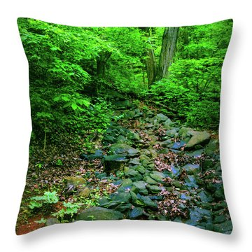 Just Breath Throw Pillow by Laura DAddona