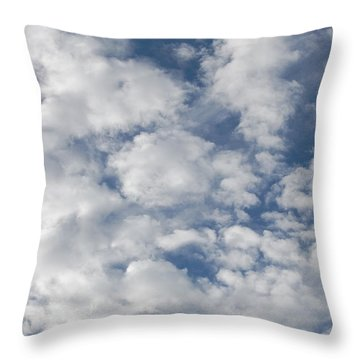 Just Clouds Throw Pillow by Jean Booth