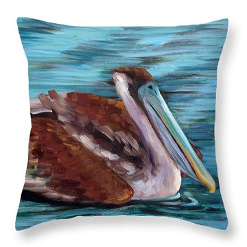 Throw Pillow featuring the painting Just Cruisin by Suzanne McKee