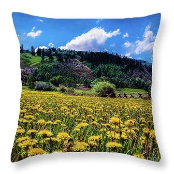 Just Dandy Throw Pillow by Jon Burch Photography