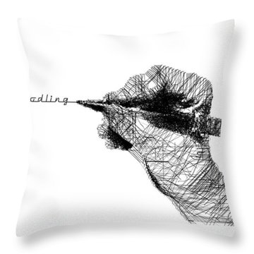 Just Doodling Throw Pillow