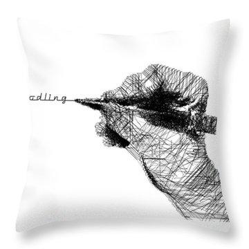 Just Doodling Throw Pillow