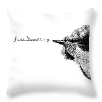 Throw Pillow featuring the digital art Just Doodling by ISAW Company