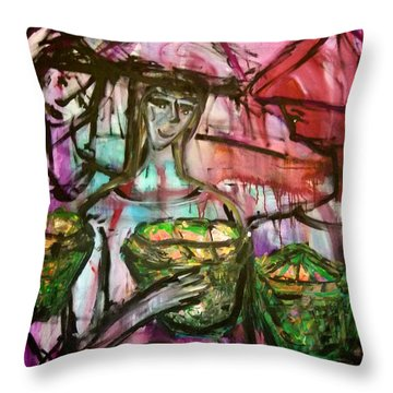 Just Felling Throw Pillow