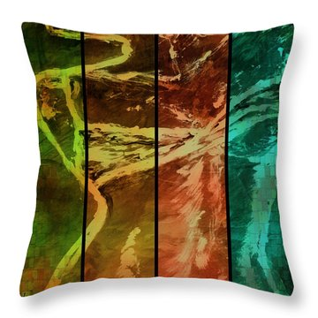 Just Female Throw Pillow