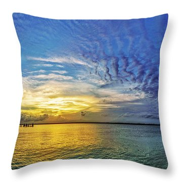 Throw Pillow featuring the photograph Just Fishin by DJA Images
