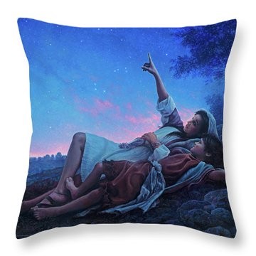 Throw Pillow featuring the painting Just For A Moment by Greg Olsen