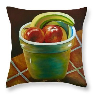 Just Fruit Reflections Throw Pillow
