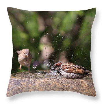 Just Get In The Water Throw Pillow