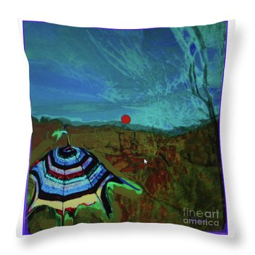 Fauve Just Glamping Throw Pillow