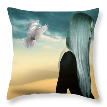Just Go  Throw Pillow by Mark Ashkenazi