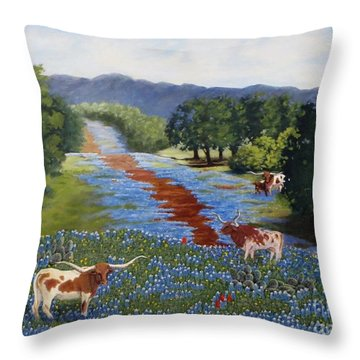 Just Hangin' Out Throw Pillow by Beverly Theriault