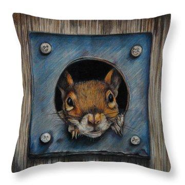 Just Hanging Out Throw Pillow by Jean Cormier