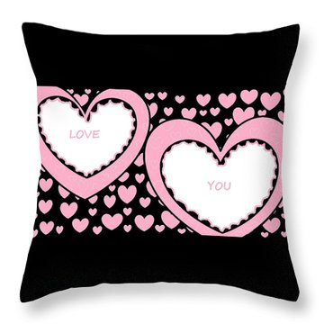 Just Hearts 2 Throw Pillow