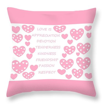 Just Hearts 3 Throw Pillow