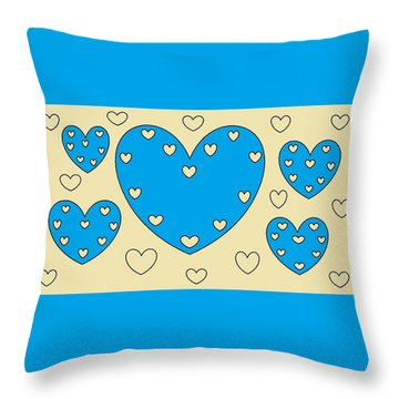 Just Hearts 4 Throw Pillow