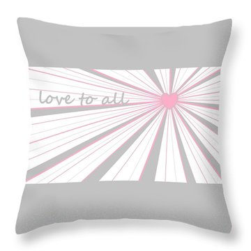 Just Hearts 5 Throw Pillow