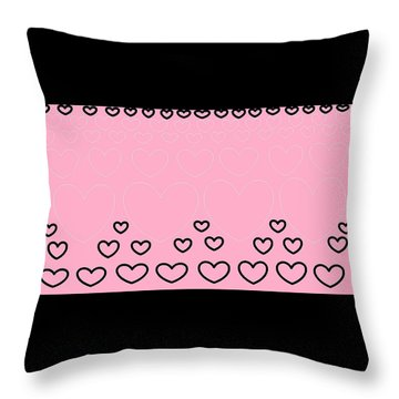 'just Hearts 8' Throw Pillow