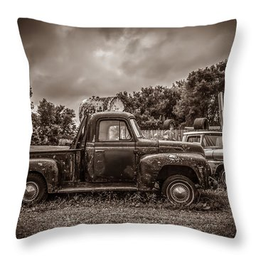 Just In Time Throw Pillow by Ray Congrove