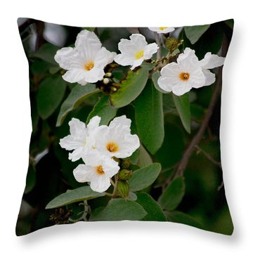 Just In White Throw Pillow