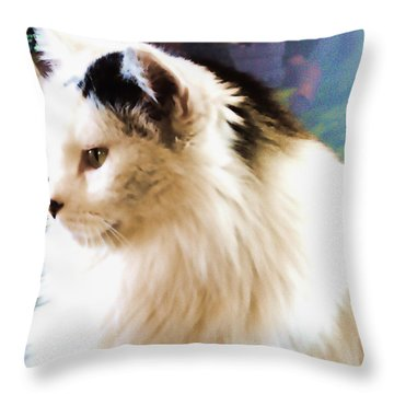 Just Jenny Throw Pillow by Aliceann Carlton