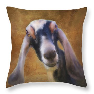 Throw Pillow featuring the mixed media Just Kidding Around by Colleen Taylor
