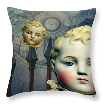 Just Like A Doll Throw Pillow