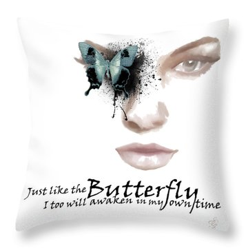 Just Like The Butterfly Throw Pillow