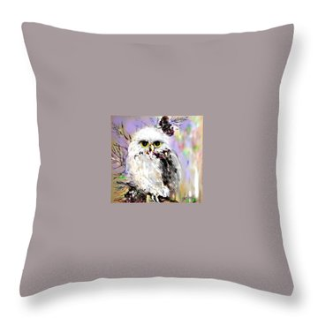 Throw Pillow featuring the drawing Just Look'n by Desline Vitto