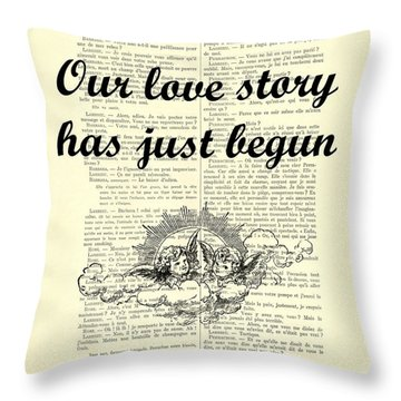 Just Married Wedding Gift Throw Pillow