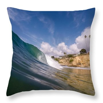 Just Me And The Waves Throw Pillow